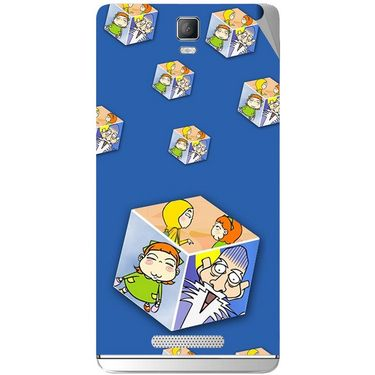 Snooky 48366 Digital Print Mobile Skin Sticker For Lava Iris Fuel 50 - Blue