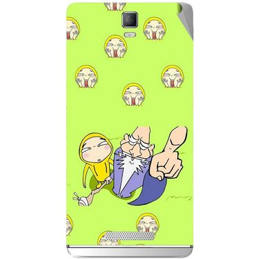 Snooky 48368 Digital Print Mobile Skin Sticker For Lava Iris Fuel 50 - Green