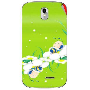 Snooky 48377 Digital Print Mobile Skin Sticker For Lava Iris 402 Plus - Green