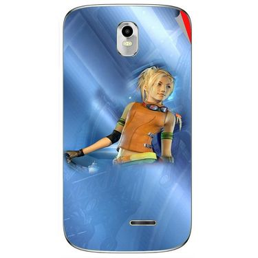 Snooky 48378 Digital Print Mobile Skin Sticker For Lava Iris 402 Plus - Blue