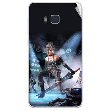 Snooky 48411 Digital Print Mobile Skin Sticker For Lava Iris 406Q - Blue
