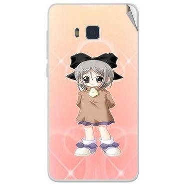Snooky 48422 Digital Print Mobile Skin Sticker For Lava Iris 406Q - Orange