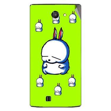Snooky 48444 Digital Print Mobile Skin Sticker For Lava Iris 456 - Green