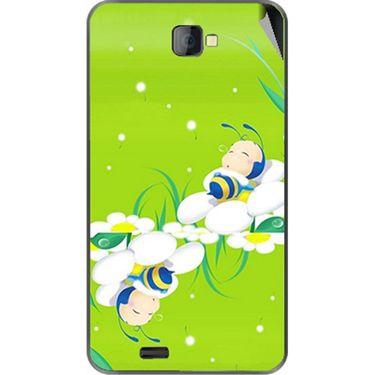 Snooky 48473 Digital Print Mobile Skin Sticker For Lava Iris 502 - Green
