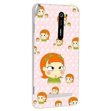 Snooky 48529 Digital Print Mobile Skin Sticker For Lava Iris 503 - Orange