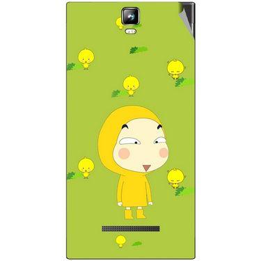 Snooky 48531 Digital Print Mobile Skin Sticker For Lava Iris 504Q Plus - Green