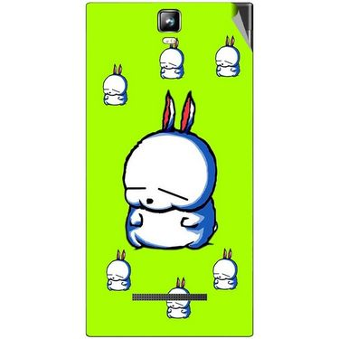Snooky 48540 Digital Print Mobile Skin Sticker For Lava Iris 504Q Plus - Green