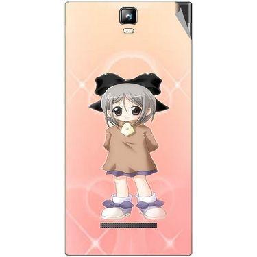 Snooky 48550 Digital Print Mobile Skin Sticker For Lava Iris 504Q Plus - Orange