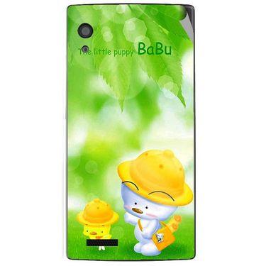 Snooky 48568 Digital Print Mobile Skin Sticker For Lava Iris Fuel 60 - Green
