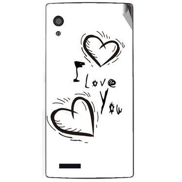 Snooky 48579 Digital Print Mobile Skin Sticker For Lava Iris Fuel 60 - White