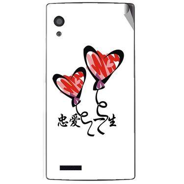 Snooky 48580 Digital Print Mobile Skin Sticker For Lava Iris Fuel 60 - White