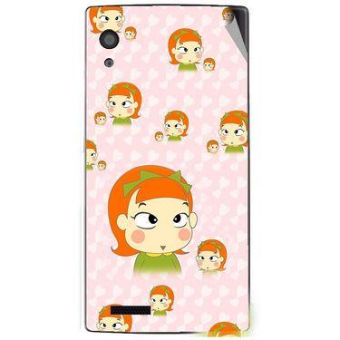 Snooky 48593 Digital Print Mobile Skin Sticker For Lava Iris Fuel 60 - Orange