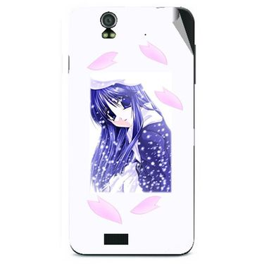 Snooky 48621 Digital Print Mobile Skin Sticker For Lava Iris selfie 50 - White