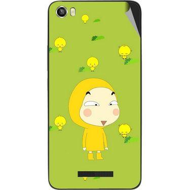 Snooky 48627 Digital Print Mobile Skin Sticker For Lava Iris X8 - Green