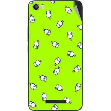 Snooky 48640 Digital Print Mobile Skin Sticker For Lava Iris X8 - Green