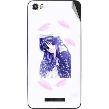 Snooky 48653 Digital Print Mobile Skin Sticker For Lava Iris X8 - White