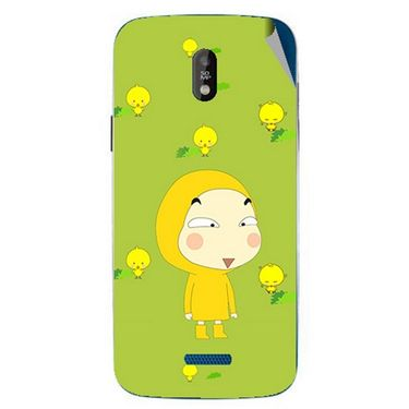 Snooky 48659 Digital Print Mobile Skin Sticker For Lava Iris 450 - Green
