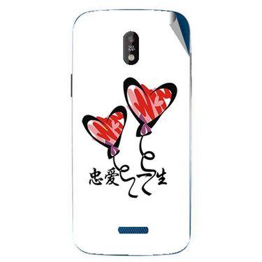 Snooky 48676 Digital Print Mobile Skin Sticker For Lava Iris 450 - White