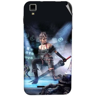 Snooky 48731 Digital Print Mobile Skin Sticker For Lava Iris 405 Plus - Blue