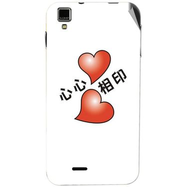 Snooky 48738 Digital Print Mobile Skin Sticker For Lava Iris 405 Plus - White
