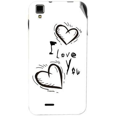Snooky 48739 Digital Print Mobile Skin Sticker For Lava Iris 405 Plus - White