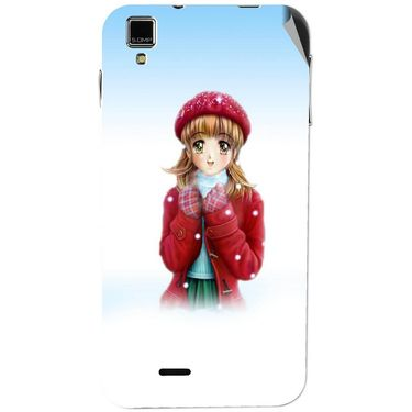 Snooky 48746 Digital Print Mobile Skin Sticker For Lava Iris 405 Plus - White