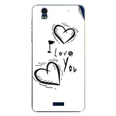 Snooky 48771 Digital Print Mobile Skin Sticker For Lava Iris Pro 20 - White