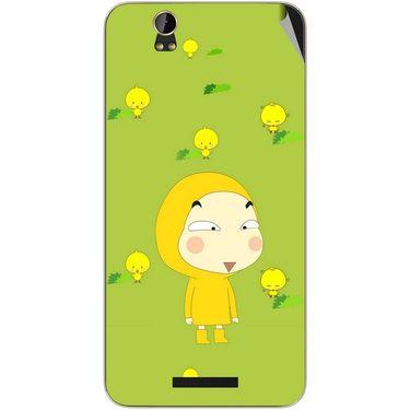 Snooky 48787 Digital Print Mobile Skin Sticker For Lava Iris X1 - Green