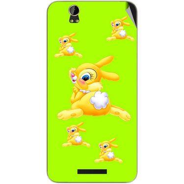 Snooky 48801 Digital Print Mobile Skin Sticker For Lava Iris X1 - Green