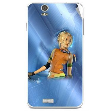 Snooky 48826 Digital Print Mobile Skin Sticker For Lava Iris X5 - Blue
