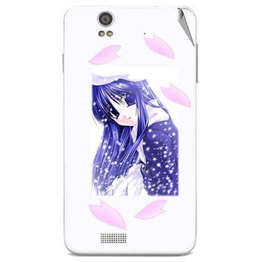 Snooky 48845 Digital Print Mobile Skin Sticker For Lava Iris X5 - White