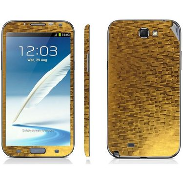 Snooky 18213 Mobile Skin Sticker For Samsung Galaxy Note 2 / N7100 - Gold