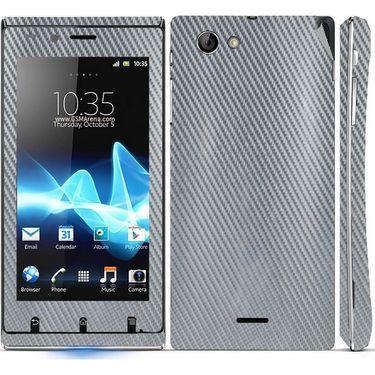 Snooky 18753 Mobile Skin Sticker For Sony Xperia J - Silver