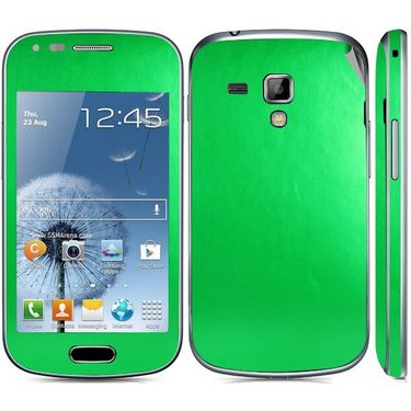 Snooky 20523 Mobile Skin Sticker For Samsung Galaxy S Duos 7562 - Green
