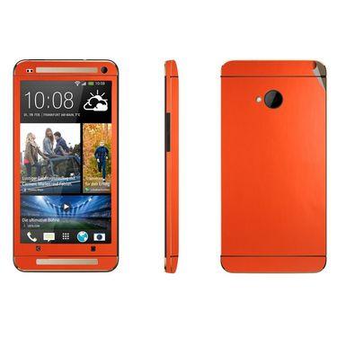 Snooky 20578 Mobile Skin Sticker For Htc One M7 - Orange
