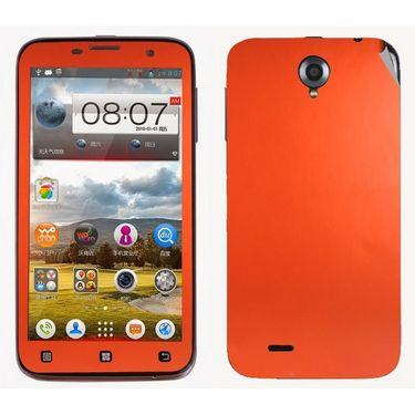 Snooky 20694 Mobile Skin Sticker For Lenovo A850 - Orange