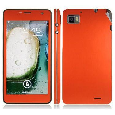 Snooky 20702 Mobile Skin Sticker For Lenovo K860 - Orange