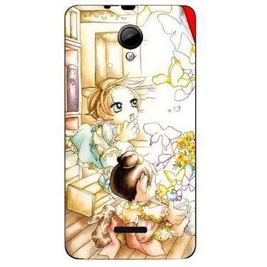 Snooky 42434 Digital Print Mobile Skin Sticker For Micromax Canvas Fun A76 - White