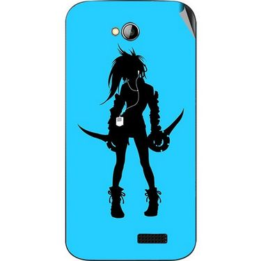 Snooky 42449 Digital Print Mobile Skin Sticker For Micromax Bolt A089 - Blue
