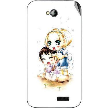 Snooky 42453 Digital Print Mobile Skin Sticker For Micromax Bolt A089 - White
