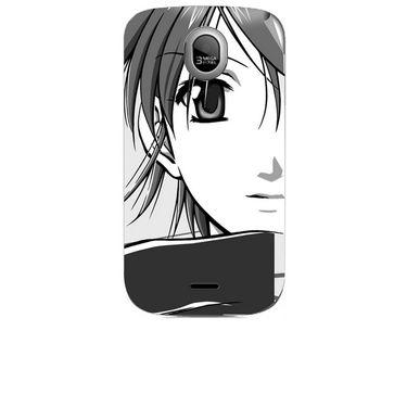 Snooky 42461 Digital Print Mobile Skin Sticker For Micromax Ninja A89 - Grey
