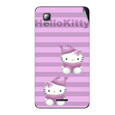 Snooky 42568 Digital Print Mobile Skin Sticker For Micromax Canvas Doodle 3 A102 - Pink