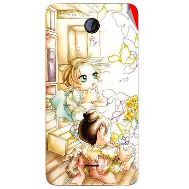Snooky 42599 Digital Print Mobile Skin Sticker For Micromax Unite 2 A106 - White