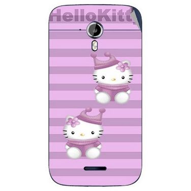 Snooky 42656 Digital Print Mobile Skin Sticker For Micromax Canvas Magnus A117 - Pink