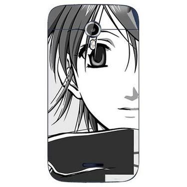Snooky 42659 Digital Print Mobile Skin Sticker For Micromax Canvas Magnus A117 - Grey