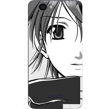 Snooky 42670 Digital Print Mobile Skin Sticker For Micromax Canvas 2 Colours A120 - Grey