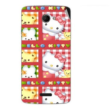 Snooky 42677 Digital Print Mobile Skin Sticker For Micromax Canvas Elanza 2 A121 - Red