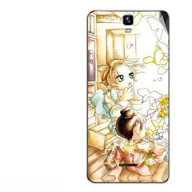 Snooky 42698 Digital Print Mobile Skin Sticker For Micromax Canvas HD Plus A190 - White