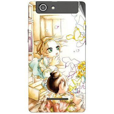 Snooky 42863 Digital Print Mobile Skin Sticker For XOLO A500s - White