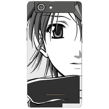 Snooky 42868 Digital Print Mobile Skin Sticker For XOLO A500s - Grey